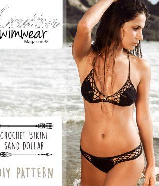crochet bikini sand dollar