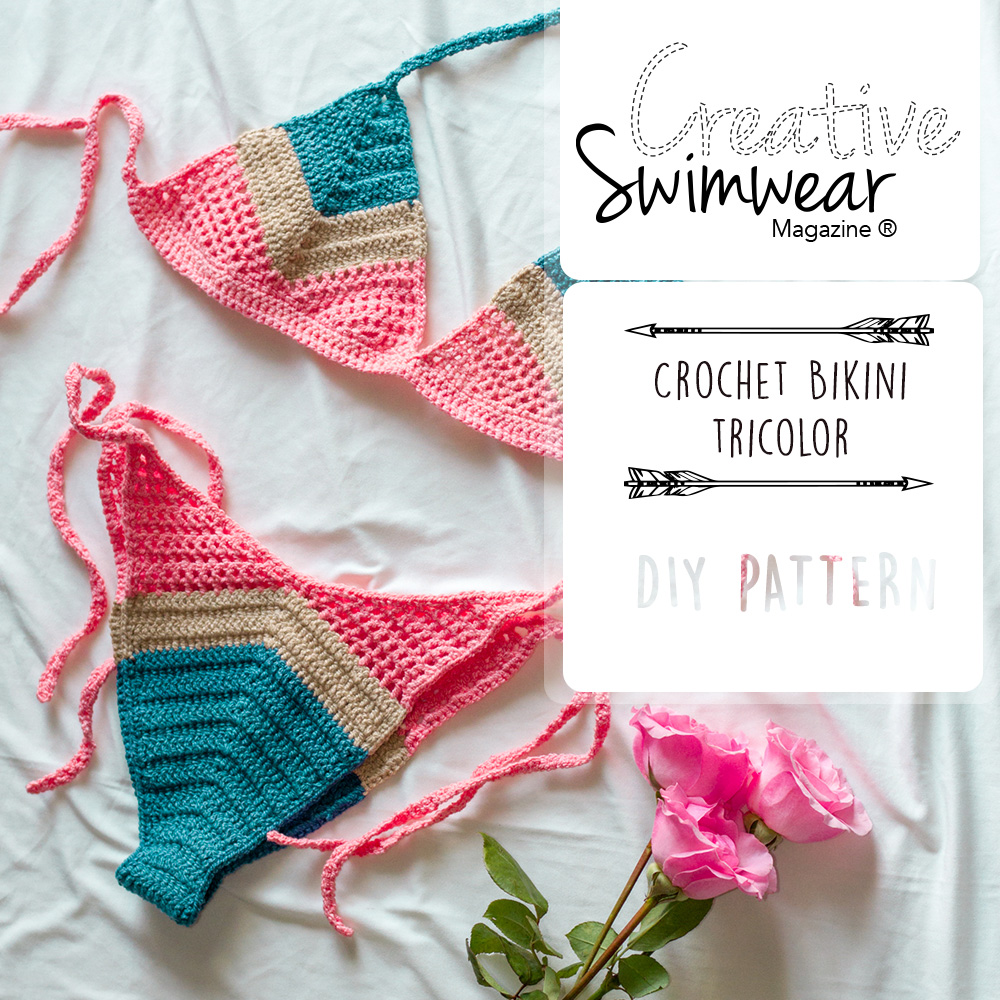 Tricolor Crochet Bikini Pattern - Creative Swimwear Magazine and ...