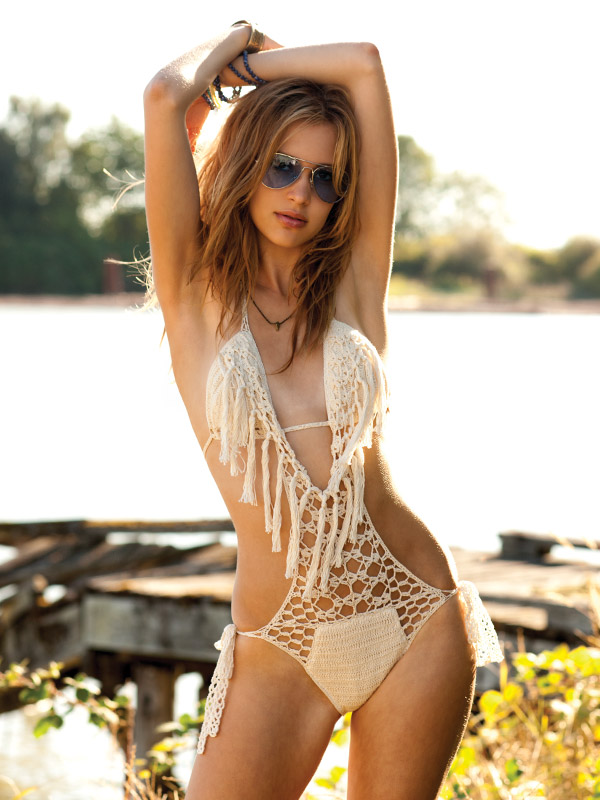 Tassels on swimsuit details