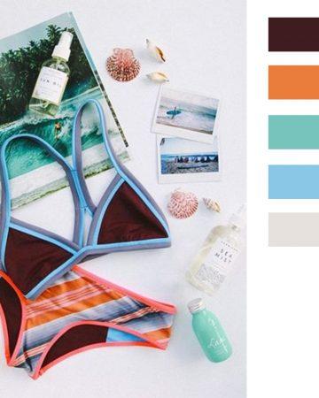 Swimwear Flat Lay Color schemes