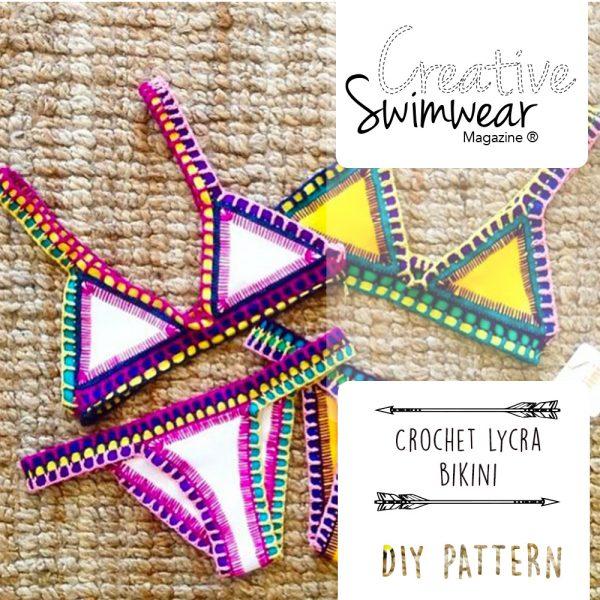 crochet lycra bikini