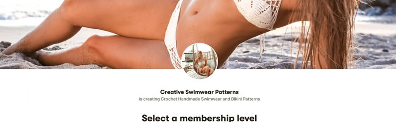 Patreon page with crochet bikini video tutorials